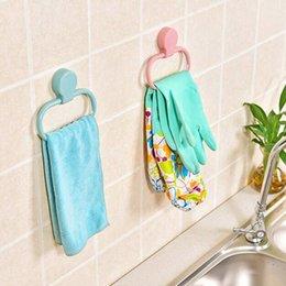 Saf renk halka şeklindeki asılı raf mutfak banyo aksesuarları hiçbir iz gücü viskon su geçirmez havlu kanca çok renkli 2 7XR J2