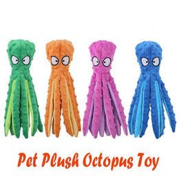 2021 New 4 Styles Pet Plush Toy Octopus Skin Shell Dog Puzzle Bite Resistant Squeaky Toy Interactive Dog Chew Toy Octopus Pets Supplies on Sale