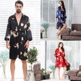 shark shirt xl NZ - IOt Famale Ice Silk Silk Flower Loose Lovers bathrobe Womens Solid Color Long Nightgown shark Long Comfortable Hooded Belt Robes