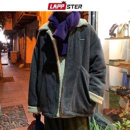 Chaud Hommes Hiver Épais Veste Vêtements Casual Loose Harajuku Homme Parkas Manteaux