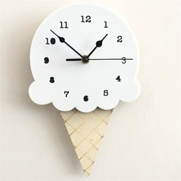 cute calendars Australia - Nordic Ice Cream Wall Clocks Cute Creativity Cartoon Mute Watch Wall Home Decor Kids Room Decoration Cute Ornament
