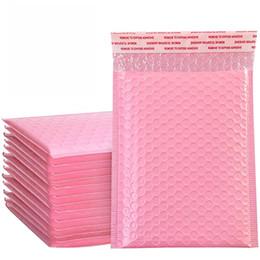 Pink Bubble Sacs Express Envelope Sac Vêtements Mobile Téléphone Film Packaging Couleur Bubble Sac Mousse Expédition Emballage Sac XD24320 en Solde