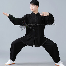 Soft Cotton Blends Chinese Tai Chi Suit Martial Arts Kung Fu Uniform Wushu Wing Chun Jacket and Pants on Sale