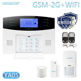security system panels Australia - HOMSECUR DIY Wireless Home Security WIFI GSM Alarm system APP Remote Control Arm Disarm(Alarm Panel YA05 PIR etc.)1