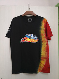 Wholesale tie dyeing shirts resale online - 2020 Spring Summer Ins Hot Hip Hop Star Cactus Boys Hotwheels Racing Tie Dye Short Sleeve Tee Skateboard Mens t shirt Women Casual Tshirt