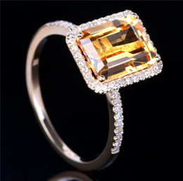 baroque rings 2021 - Loredana Fashion Love Series Jewelry For Women.Valentine Gift Of Baroque Yellow Transparent Zircon Romantic Wedding Ring.