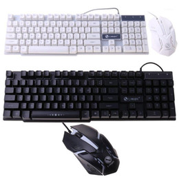 Discount backlight keyboard mechanical LED Light Backlight Mechanical Feel Gaming Keyboard and Wired Mouse Combo Set LED Light for Computer PC1