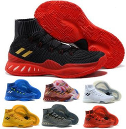 Wholesale crazy socks for sale - Group buy Mens Crazy Explosive Socks Basketball Shoes Sneaker D Rose Vegas Linen Grey Scarlet Andrew Wiggins High Quality Sport Athletic Shoes