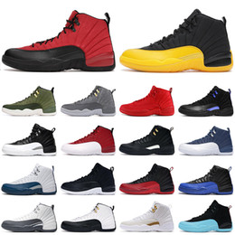 2021 basketball shoes 12s jumpman 12 Reverse Flu Game Taxi Dark Concord University Gold Gym Red The Master mens trainers sneakers on Sale