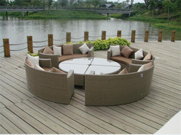 Creative round outdoor party table and chair set on Sale