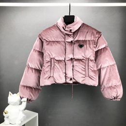 Wholesale womens winter coats resale online - 2020 winter jackets womens designer jakcet retro hip hop sexy short coat Internal nylon lining fabric Removable sleeves EUR size luxury coat