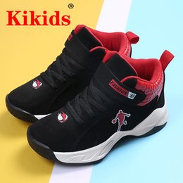 slip basketball shoes NZ - KIKIDS Boys Basketball Shoes High Quality Top Soft Non-Slip Kids Sneakers Thick Sole Children Sport Kid Outdoor Trainer Shoes Y1117