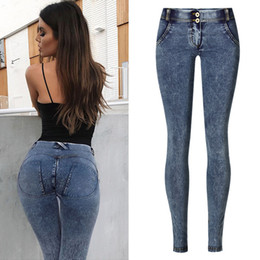 skinny butts jeans NZ - Pull On Denim Jeans Women Skinny Casual Strech Pencil Pants Push Up Leggings Peach Butt Lift Hip Low Waist Jeggings Plus Size XS A1112