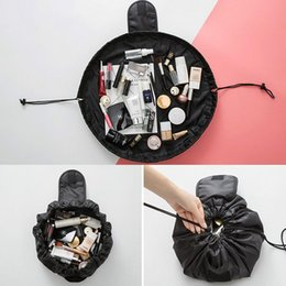 designer cosmetic bags cases 2021 - Women Drawstring Travel Cosmetic Bag Makeup Bag Organizer Make Cosmetic Case Storage Pouch Toiletry Beauty Kit Box