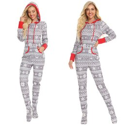 Weihnachtsfamilien-Pyjamas Overall Langarm-Strampler Strampler Snowflake-Overall-Outfit One Piece Pants Body Nachtwäsche Onesies CZ111601