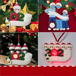 Wholesale 2020 Quarantine Christmas Best Wishes Party Decoration Gift Santa Claus With Mask Personalized Xmas Tree Ornament All Series