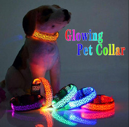 belt dog collars 2021 - Glowing Pet Collars Rechargeable Luminous Pet Belt Adjustable Personalized Dog Collar Nylon Anti-los Puppy Cat Pet Neck