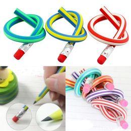 Colorido Magic Bendy flexible Flexible Lápiz suave con borrador de papelería Estudiante de goma Lápices de plomo Niños Regalo Lápiz Fiesta Suministros en venta