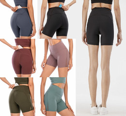 ingrosso pantaloncini da donna-LU Donne Leggings Yoga Outfit Coscia Designer Designer Womens Workout Gym Wear Solid Sports Elastico Elastico Fitness Lady Generale Allinea Collant Short Pants