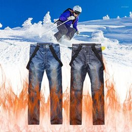 Jeans Ski Pants Wholesale Men And Women Outdoor Windproof Waterproof Thick Warm Breathable Trousers Ski Snowboard Pants1 on Sale