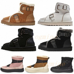 ingrosso locomotiva-2021 Designer Australian Locomotive Boots Dune Mini fibbia Boot Australia WGG Donne Womens Girls Lady Boot Stivali Snow Half Knee Shorts
