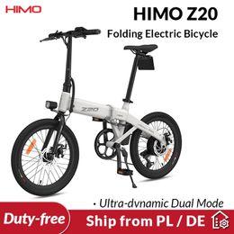 Vente en gros [Expédier de l'UE Pas d'impôt] Himo Z20 Pliant vélo électrique Mode double ultra-dynamique E-Bike 250w Enerdo Urban E Bike 80km Kilométrage