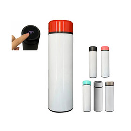 Wholesale amazon printing resale online - Amazon Hot Sale oz oz Blank Sublimation Temperature Display Water Bottle DIY Insulated Heat Transfer Printing Water Bottle
