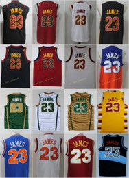 Vintage LeBron 23 Jdmes Jerseys Men St. wincent Mary High School Irish,Cavs Blue White Green Brown Red Black Stitched on Sale