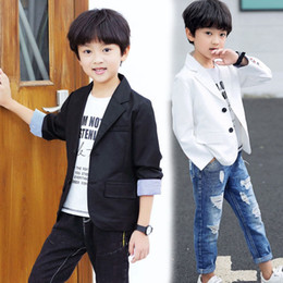 Wholesale kids blazers jackets for sale - Group buy New INS Kids Boys Girls Blazer Autumn Boys and Girls Long Sleeve Coat Kids Cotton Jackets Girls Jackets for T