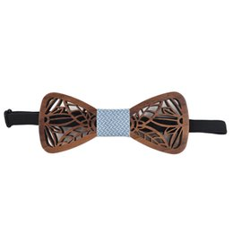 Wholesale 2021 ZB30 New Sitonjwly Fashion Bow Tie Wooden Tie for Mens Shirt Wood Bowtie Cravate Homme Corbatas Hombre Pajarita Wedding Wooden Bow