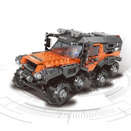 Wholesale Super All Terrain Vehicle Assembled Building Blocks Educational Small Particles Children'S Toys Abroad Delivery