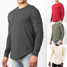 hoodies des hommes achat en gros de-news_sitemap_homeNouvelle mode à manches longues mode O Col Tracksuit Fitness Hoodies Men s Pli Casual Minimaliste Sweat shirt Lâche Pullovers Homme
