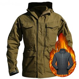 Wholesale m65 military jackets resale online - M65 UK US Army Jackets Winter Fleece Thicken Warm Waterproof Jacket Mens Military Windbreaker Coat Flight Pilot Hoodie Clothes