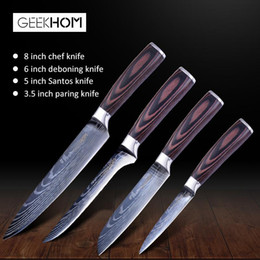 japanese kitchen tools UK - Japanese Kitchen Knives Set Laser Damascus Pattern Chef Knife Sharp Santoku Cleaver Slicing Utility Cooking Knives Kitchen Tool jlltGF