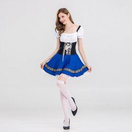 Mesdames longueur plus de fille de la bière Oktoberfest costume robe fantaisie tenue plus taille