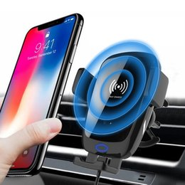 cell phone holder clamp Australia - Wireless Car Mount Auto-Clamping 10W Fast Cell Phone Charger Holder