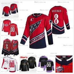 Wholesale dry white wine names resale online - Custom Any Name Reverse Retro Henrik Lundqvist Jersey Washington Capitals Ovechkin Wilson Carlson Nicklas Backstrom Kuznetsov