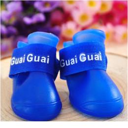 4pcs Dog Shoes Waterproof Rain Pet Shoes For Dog Puppy Rubber Boots Candy Color Puppy Shoes Pet wmtwIZ on Sale