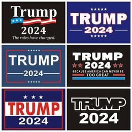 Wholesale 2024 Trump Car Stickers US Presidential Campaign Trumps Sticker Bumper Sticker Decorative 8Colors XD24228