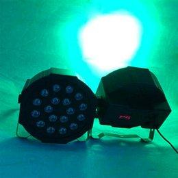 Опт Новый дизайн 18W 18-светодиодный RGB Авто- и голосовой контроль Партиата Party Stage Light Black Top Ground Светодиоды Новые и высококачественные ноги
