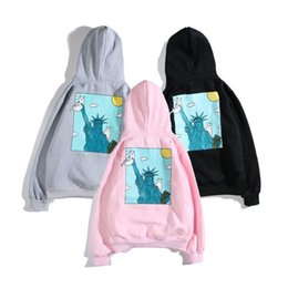 Wholesale ripndip hoodies for sale – custom Men and women couples RIPNDIP cheap cat pocket cat spoof Van Gogh self portrait hooded sweater hoodies