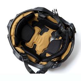 Vente en gros 2020 Un nouveau casque éponge protégé Pads tactique Force Impact Protection Head Special Parts Desert pour MT Casque Livraison gratuite Q1116