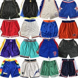 Wholesale brooklyn new york for sale - Group buy New York Knicks Minnesota Timberwolves Los Angeles LA Clippers Brooklyn Net Clipper Mens Basketball Shorts