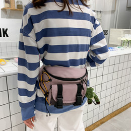 Discount waist bag style 2020 Women Cute Waist Bag Fashion Mens Bumbag For Woman Belt Bag Ladies Girl Cross Body Bag Sac Banane With Toy Street H