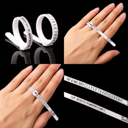 Wholesale US UK Ring Ruler Britain And America White Rings Hand Size Measure Circle Finger Circumference Screening Tool 0 79cq J2