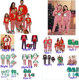 Ingrosso Xmas Kids Boy Girls Adulto Famiglia Adulto Abbinamento NATALE Cervi natalizie Pigiama Sleepwear Dadictini da notte Pigiama Pigiama Parent-Child Pigiama Partito HH9-3304