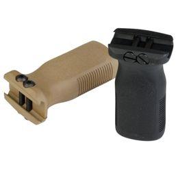 Toptan satış Taktik Paintball Airsoft Rug Tarzı Ön Dikey Kavrama Airsoft Bb Airgun AR15 Tüfek Polimer Kavrama için 20mm Picatinny Raylı