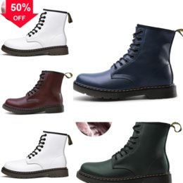boots and workwear UK - Autumn dr Winter new Doc retro high-top men'sbootMartin men's workwear luxury boots designer shoes European classic and American casual leat