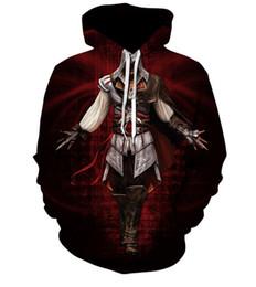 Wholesale assassins creed hoodie coat online – oversize new style Tomb Raider Assassins Creed Mens Sweatshirts Patchwork Casual Hooded Sweatshirt Men d printed hoodies Men Coat