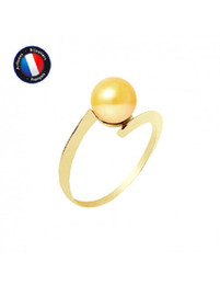 Wholesale Freshwater Cultured Pearl Ring Diameter 78 mm Gold Size 48 (EU) Woman Jewel GoldYellow